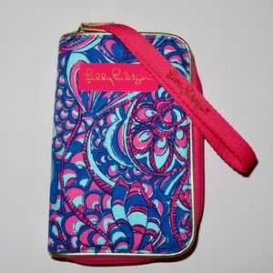 Lilly Pulitzer NWOT Wrislet Wallet Phone Holder